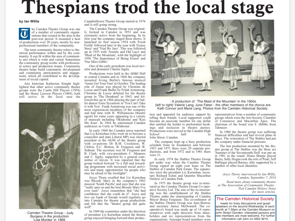 Thespians trod the local stage